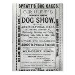 La exposición canina de Cruft de la publicidad de  Postales