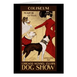 La exposición canina del club de la perrera de Chi Felicitación