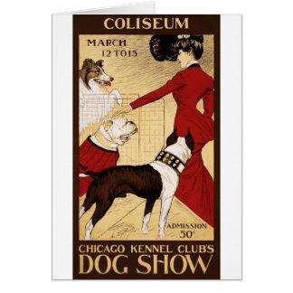 La exposición canina del club de la perrera de Chi Tarjetas