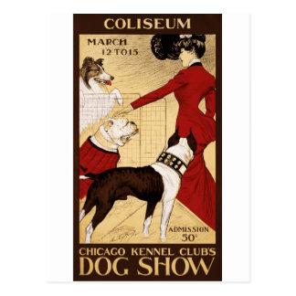 La exposición canina del club de la perrera de postales