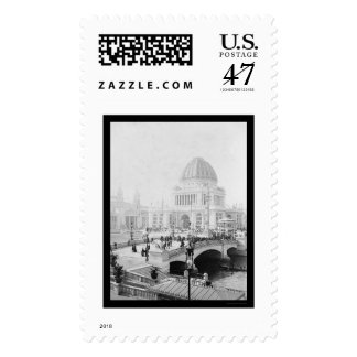 La exposición colombina del mundo en Chicago 1893 Sello Postal