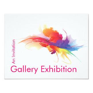 """La exposición de arte invita invitación 4.25"""" x 5.5"""""""