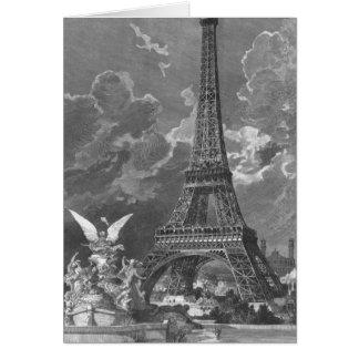 La exposición del universal de la torre Eiffel Tarjeta De Felicitación