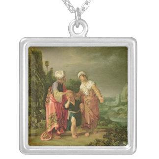 La expulsión de Hagar, 1612 Colgante Cuadrado