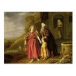 La expulsión de Hagar y de Ishmael, c.1644 Postal