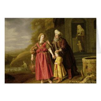 La expulsión de Hagar y de Ishmael, c.1644 Felicitación