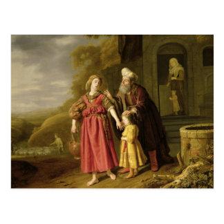La expulsión de Hagar y de Ishmael, c.1644 Tarjeta Postal