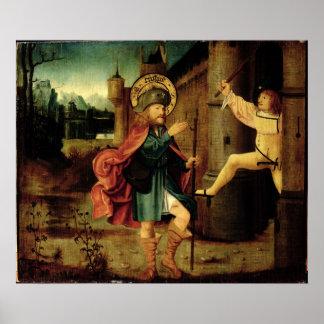 La expulsión del santo Roch de Roma Posters