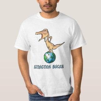 La extinción chupa la camiseta poleras