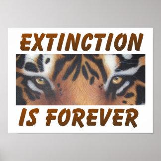 La extinción es forever póster
