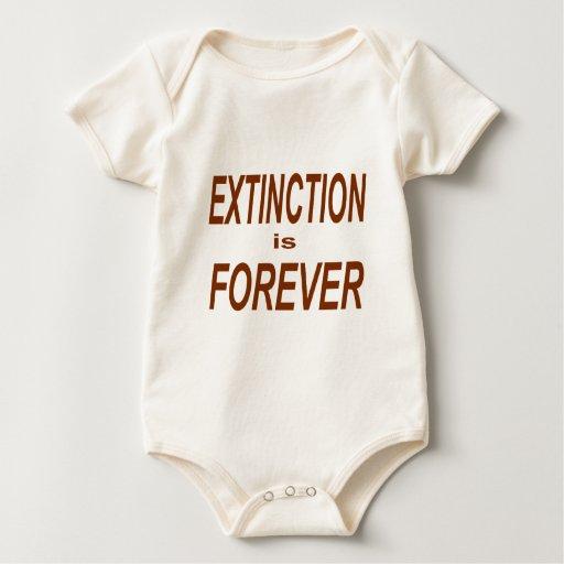La extinción es Forever Traje De Bebé