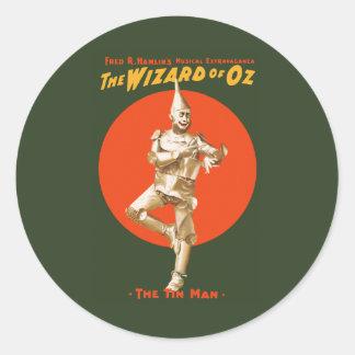 La extravagancia del Musical de mago de Oz Pegatina Redonda