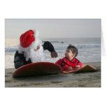 La extremidad que practica surf de Santa, nunca es Tarjeta