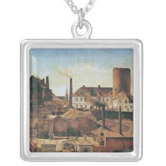 La fábrica de Harkort en el Burg más mojado, c.183 Colgante Cuadrado