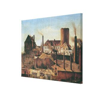 La fábrica de Harkort en el Burg más mojado, c.183 Lona Estirada Galerías