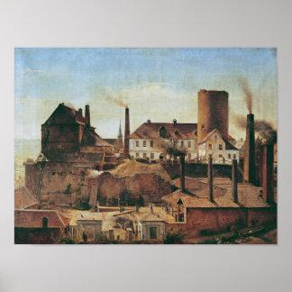 La fábrica de Harkort en el Burg más mojado, c.183 Póster