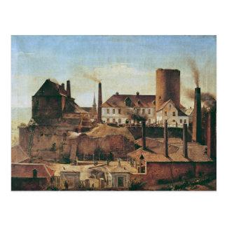La fábrica de Harkort en el Burg más mojado, Tarjeta Postal