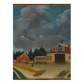 La fábrica de la silla en Alfortville de Henri Tarjeta Postal