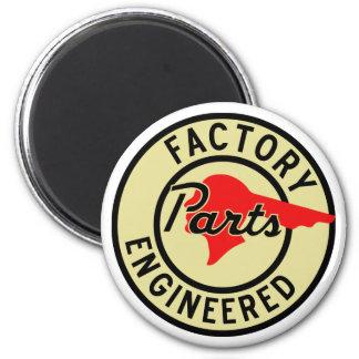 La fábrica de Pontiac del vintage parte la muestra Imán Redondo 5 Cm