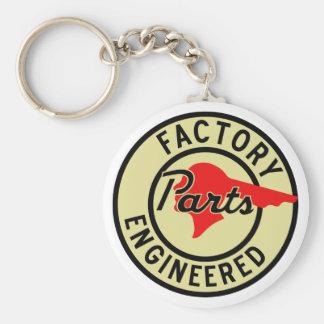 La fábrica de Pontiac del vintage parte la muestra Llavero Redondo Tipo Pin
