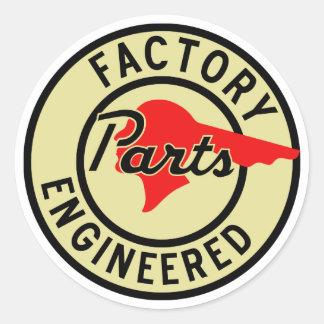 La fábrica de Pontiac del vintage parte la muestra Etiquetas