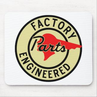 La fábrica de Pontiac del vintage parte la muestra Tapetes De Ratón