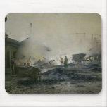 La fábrica del gas en Courcelles, 1884 Tapetes De Ratones