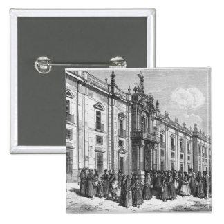 La fábrica del tabaco en Sevilla Pin Cuadrada 5 Cm