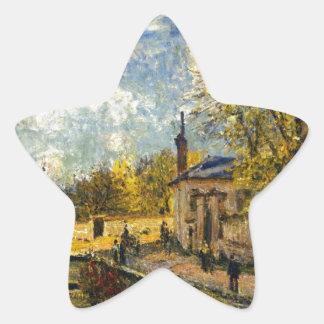 La fábrica en Sevres de Alfred Sisley Pegatina En Forma De Estrella