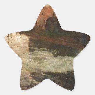 La fábrica vieja en el Somme (tarde) sinteriza Pegatina En Forma De Estrella