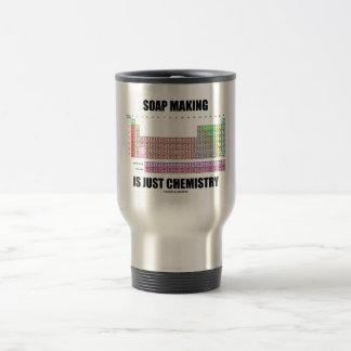 La fabricación de jabón es apenas química tazas