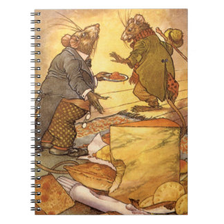 La fábula de Esopo del vintage, ratón del país, Libro De Apuntes Con Espiral