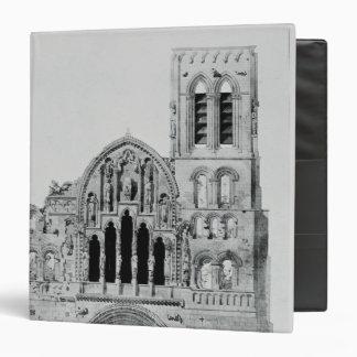 """La fachada de La Madeleine de Vezelay Carpeta 1 1/2"""""""