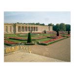 La fachada del jardín del Trianon magnífico, 1687 Postales