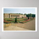 La fachada del jardín del Trianon magnífico, 1687  Póster