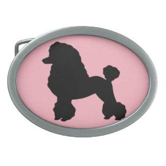 la falda rosada del caniche de los años 50 inspiró hebilla cinturón oval