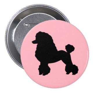 la falda rosada del caniche de los años 50 inspiró pin redondo 7 cm