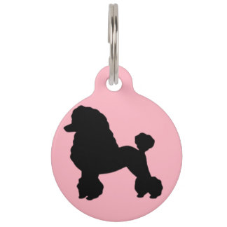 la falda rosada del caniche de los años 50 inspiró placa de mascota