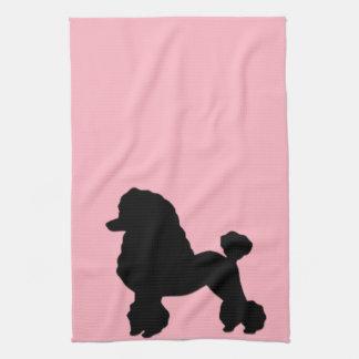 la falda rosada del caniche de los años 50 inspiró toalla de cocina
