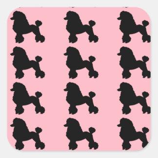 La falda rosada del caniche inspiró a los pegatina cuadrada