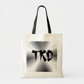 La falsa bolsa de asas de la lona de la plata TKD