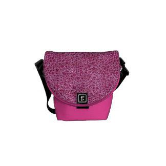 La falsa bolsa de mensajero rosada de la impresión bolsa messenger