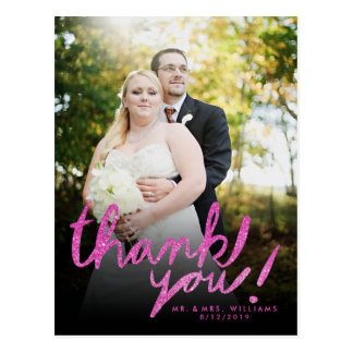La falsa foto rosada del brillo le agradece postal