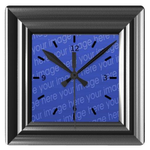 La falsa madera del estaño añade su propia foto reloj cuadrado