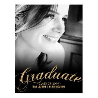 La falsa postal de la foto del graduado del oro