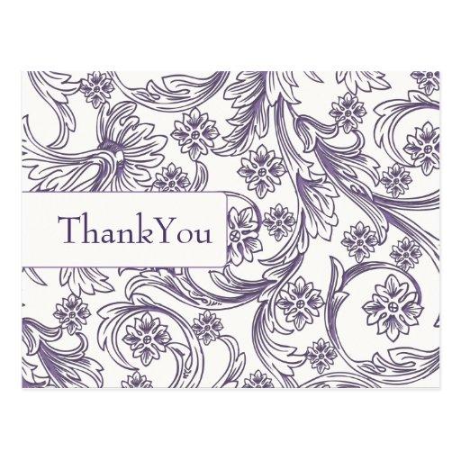 La FALSA púrpura de papel del recorte le agradece Tarjetas Postales