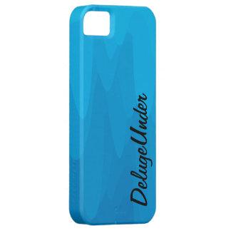 La falta de definición azul iPhone 5 funda