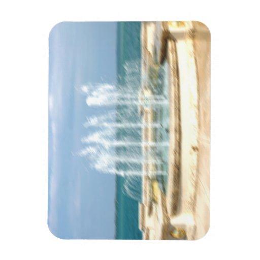 La falta de definición coralina del agua del cielo imán de vinilo