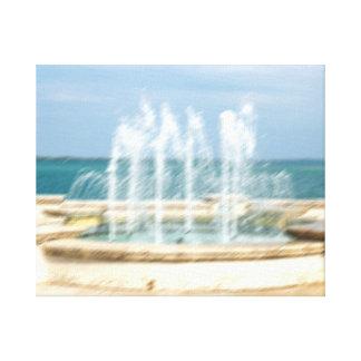 La falta de definición coralina del agua del cielo lona envuelta para galerías