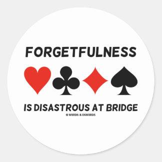 La falta de memoria es desastrosa en el puente pegatina redonda